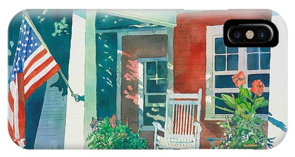 Porch iPhone Case - The Red Cottage by LeAnne Sowa