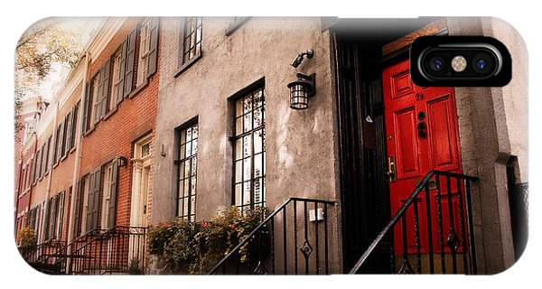 Brownstone iPhone Case - The Red Door by Jessica Jenney
