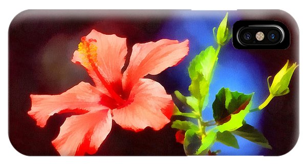 The Red Hibiscus Flower IPhone Case