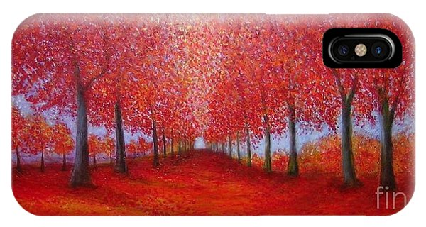 The Red Maples Alley IPhone Case