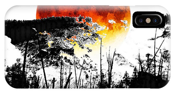 The Red Moon - Landscape Art By Sharon Cummings IPhone Case