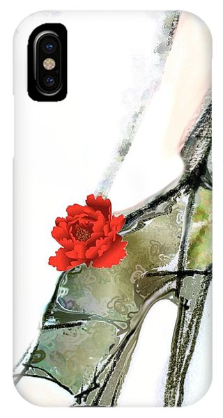 The Red Peony Shoe IPhone Case