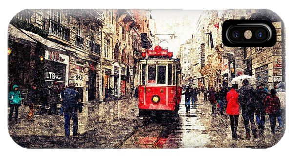 The Red Tram 2 IPhone Case