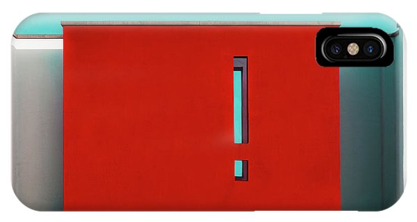 The Red Wall Phone Case by Inge Schuster