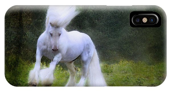 White Horse iPhone Case - The Reflection by Fran J Scott