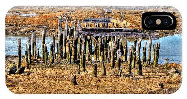 The Remains Of A Wellfleet Bridge IPhone Case
