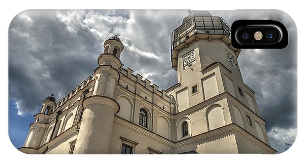 The Renaissance Town Hall In Szydlowiec In Poland Seen From A Different Perspective IPhone Case