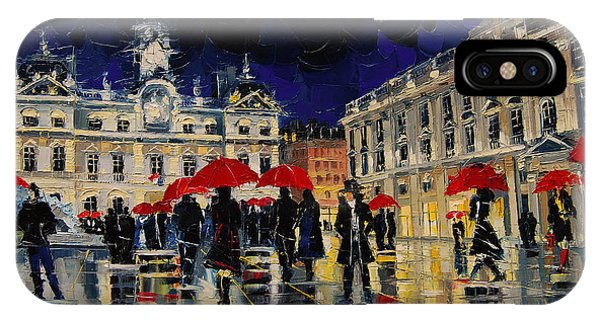 The Rendezvous Of Terreaux Square In Lyon IPhone Case