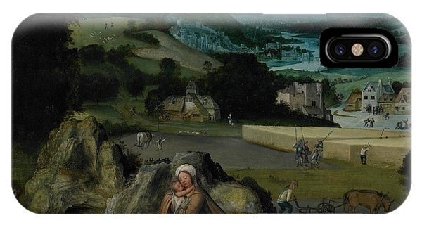 Mary Mother Of God iPhone Case - The Rest On The Flight Into Egypt by Joachim Patinir