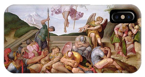 New Testament iPhone Case - The Resurrection Of Christ, Florentine School, 1560 by Italian School