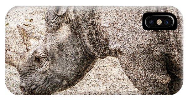 Rhinocerus iPhone Case - The Rhino by Ray Van Gundy