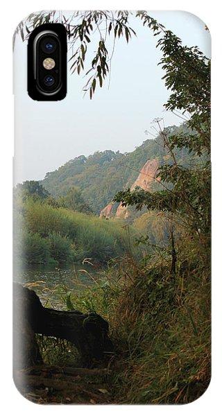 The River Severn Through Bridgnorth IPhone Case