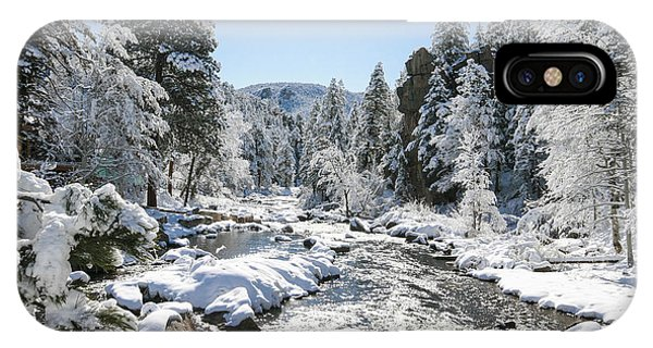 The Rockies In Winter Phone Case by Jill Bell