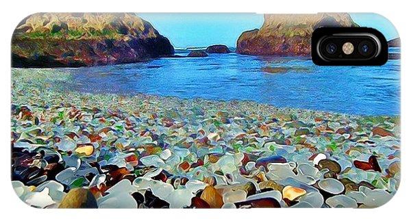 Glass Beach In Cali IPhone Case