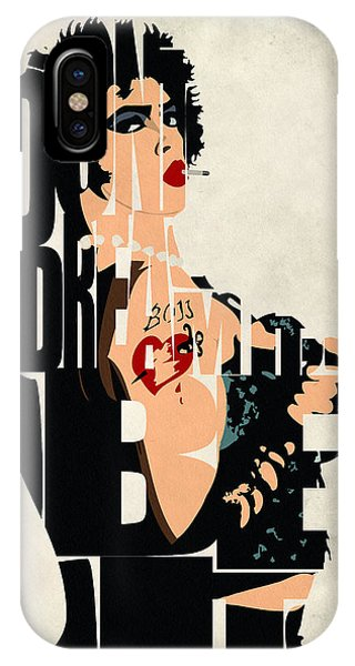Digital iPhone Case - The Rocky Horror Picture Show - Dr. Frank-n-furter by Inspirowl Design