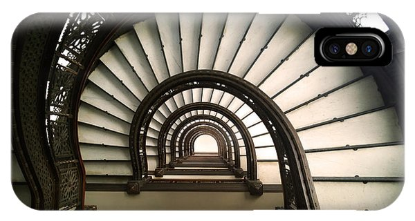 IPhone Case featuring the photograph The Rookery Staircase Lasalle St Chicago Illinois by Kelly Hazel