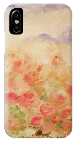 IPhone Case featuring the painting The Rose Bush by Laurie Lundquist