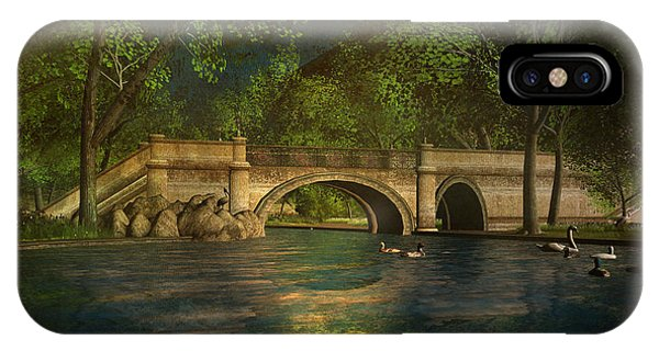The Rose Pond Bridge 06301302 - By Kylie Sabra IPhone Case