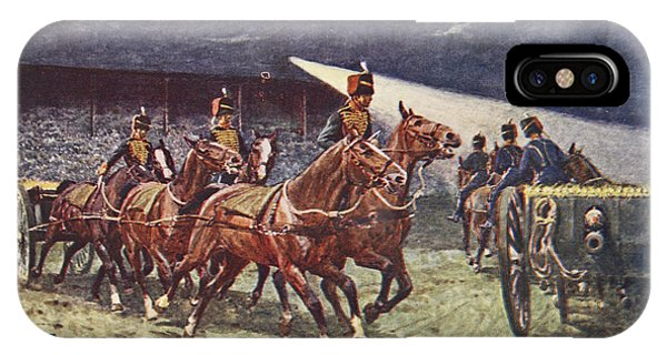 Wwi iPhone Case - The Royal Horse Artillery Drive by William Barnes Wollen