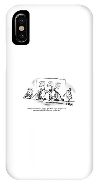 Pub iPhone Case - The ?rst Step Toward Solving New York City's by Robert Weber