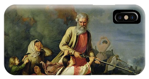 Anguish iPhone Case - The Russians In 1812, 1855 Oil On Canvas by Konstantin Przhceslavski