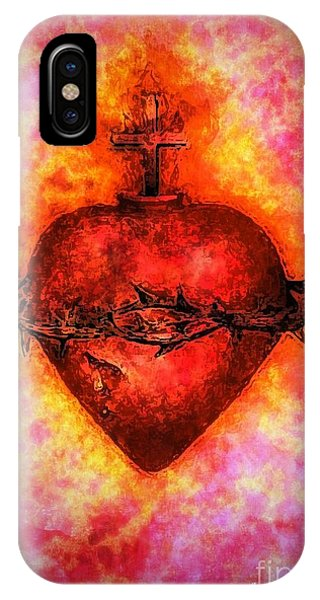 The Sacred Heart Of Jesus Christ IPhone Case