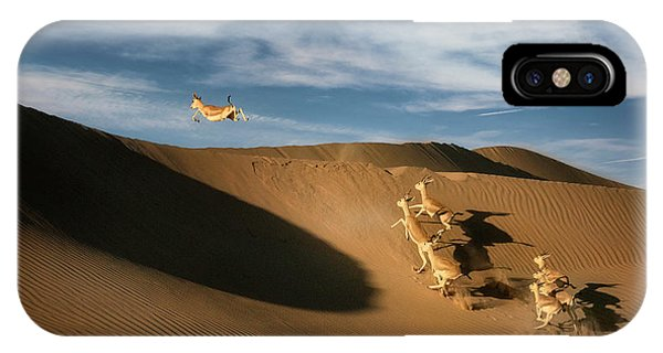 Dunes iPhone Case - The Sand Gazelle. by Wael Onsy