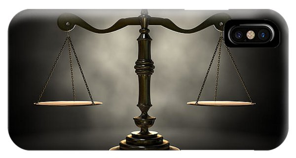 Equal Rights iPhone Case - The Scales Of Justice by Allan Swart