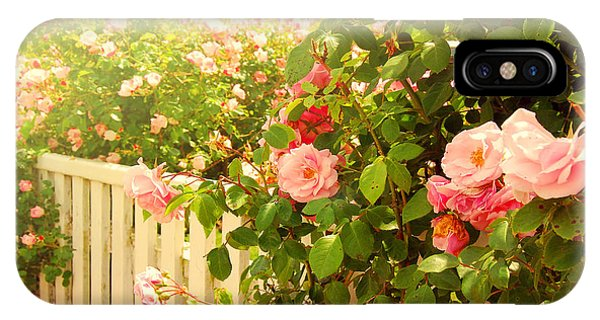 The Scent Of Roses And A White Fence IPhone Case