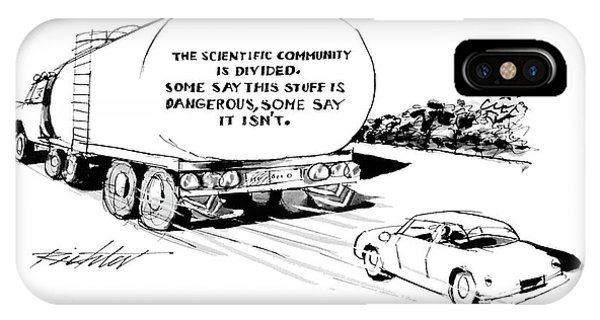 Highway iPhone Case - 'the Scientific Community Is Divided.  Some Say by Mischa Richter