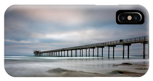 Scripps Pier iPhone Case - The Scripps Pier by Peter Tellone