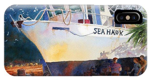 The Sea Hawk In Drydock IPhone Case