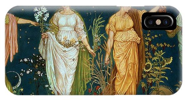 Pre-modern iPhone Case - The Seasons by Walter Crane