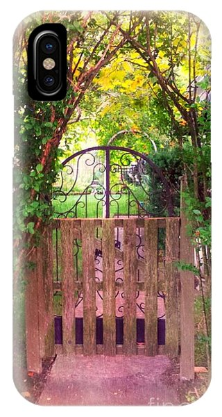 The Secret Gardens Gate IPhone Case
