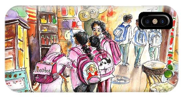 Girls In Pink iPhone Case - The Secret Seven From Essaouira by Miki De Goodaboom