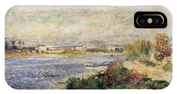 19th Century iPhone Case - The Seine In Argenteuil by Pierre-Auguste Renoir
