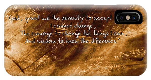 The Serenity Prayer 1 IPhone Case