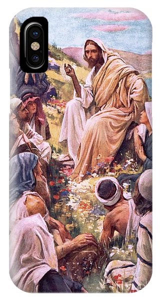Messiah iPhone Case - The Sermon On The Mount by Harold Copping
