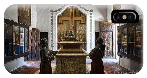 The Serra Cenotaph In Carmel Mission IPhone Case