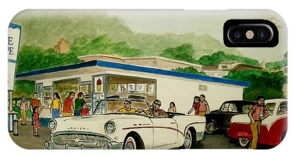 The Shake Shoppe Portsmouth Ohio 1960 IPhone Case