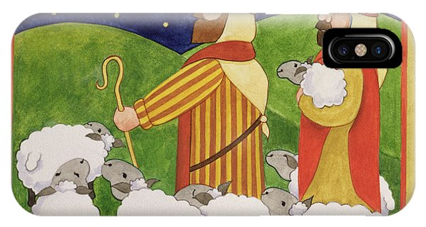 Staff iPhone Case - The Shepherds by Linda Benton