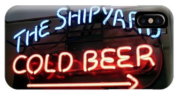 The Shipyard Cold Beer Neon Sign Phone Case by Patricia E Sundik