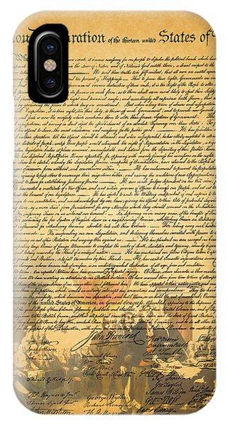 The Signing Of The United States Declaration Of Independence IPhone Case