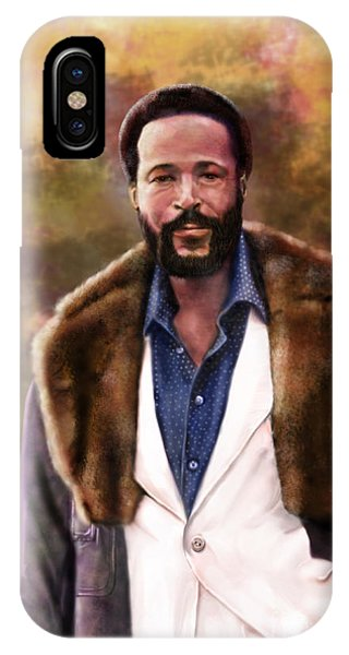 The Silky Silky Soul Singer - Marvin Gaye  IPhone Case