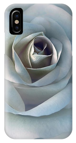 The Silver Luminous Rose Flower IPhone Case