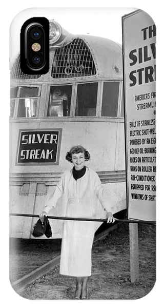 Child Actress iPhone Case - The Silver Streak Train by Underwood Archives