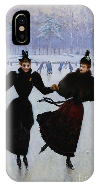 Ice iPhone Case - The Skaters by Jean Beraud