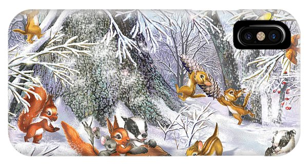 Winter Fun iPhone Case - The Sledge by MGL Meiklejohn Graphics Licensing
