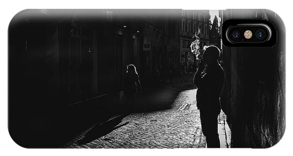 Street Light iPhone Case - The Smoker by Massimiliano Mancini