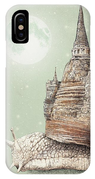 Moon iPhone Case - The Snail's Dream by Eric Fan